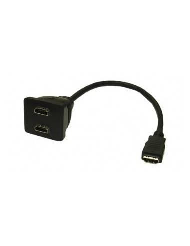 HDMI Adapter, HDMI19 Typ A male - 2x HDMI19 Typ A female  - 1