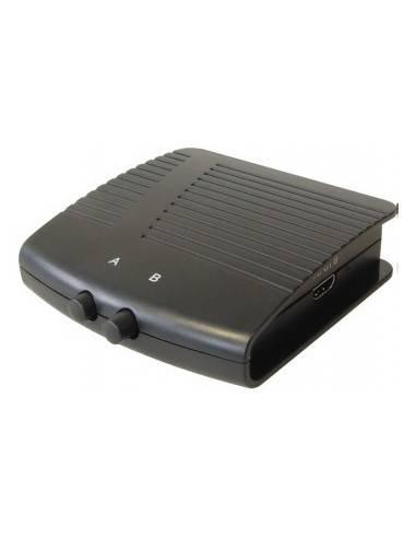 HDMI Switch, manual, 2ports, HDMI19 type A female - 2x HDMI type A female  - 1