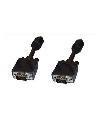 SVGA Cable, DBHD15 male - male, ferrite, black - 50 m  - 1