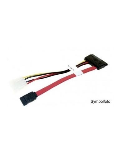 """SATA Combi Cable, SATA 22-pin male to SATA 7-pin / 5 1/4"""" male - 0.5 meter  - 1"""