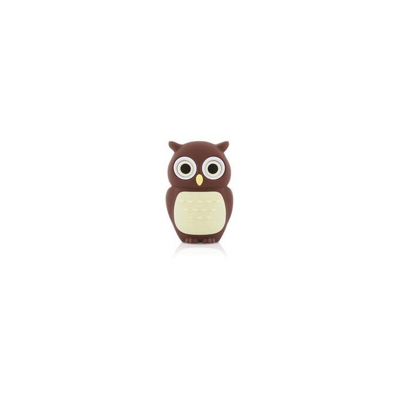 Bone Owl Driver, 4 GB USB memory stick, motive owl ,brown  - 1