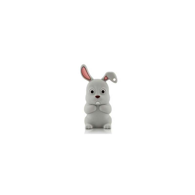 Bone Rabbit Driver, 4 GB USB memory stick, rabbit grey  - 1