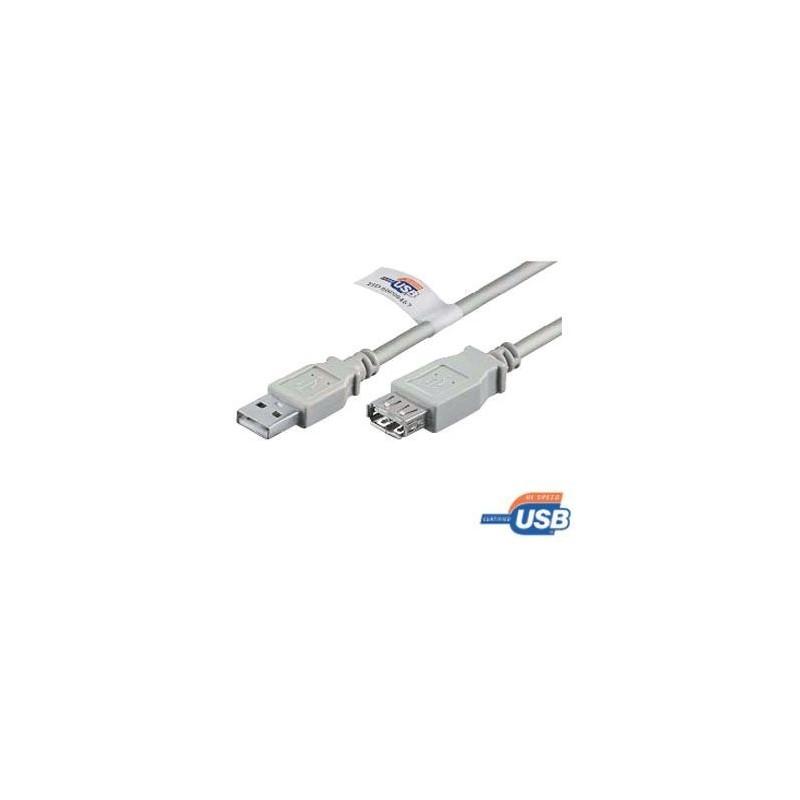 USB 2.0 Удължителен кабел USB A male - female, Сив  - 1