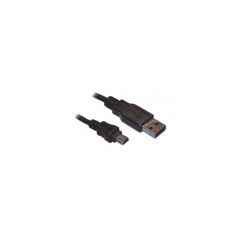 USB2.0 Hi-Speed Cable, USB A male - USB Mini B (5-pin) male, black - 1.8m  - 1