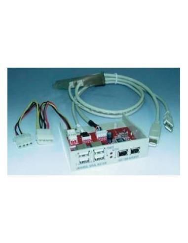 USB2.0 Active Hub, Floppy 4xUSB A, 2xIEEE1394, 3,5mount  - 1