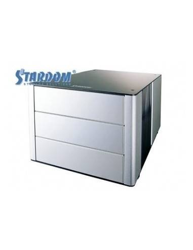 STARDOM U7-1U3 HDD external enclosure, 2x SCSI U320 HDD, stapleable, cooler, Alu, black  - 1
