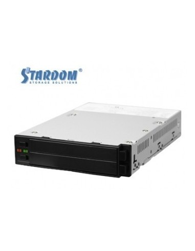 """STARDOM SR2760-2S-S2B 2.5"""" RAID module in 3.5"""" insert, internal, 2x SATA HDDs, black  - 1"""