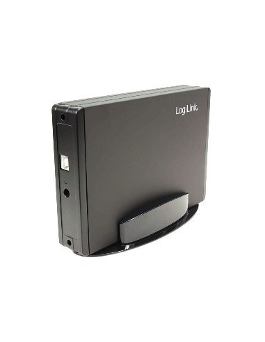 "HDD case USB2, 3.5"" SATA , Alu, incl. stand, black LOGILINK UA0060 LogiLink - 1"