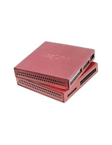 LOGILINK CR0019 Cardreader USB2, External, All-in-1, all type of cards, Alu, pink LogiLink - 1