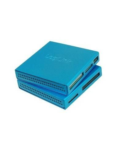 LOGILINK CR0020 Cardreader USB2, External, All-in-1, all type of cards, Alu, blue LogiLink - 1