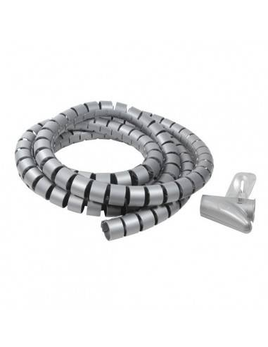 Cable Spiral Wrapping Band, 25mm diameter x 2500mm length, silver  - 1