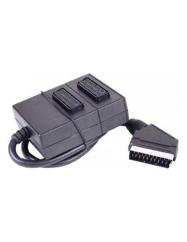 OEM 2-way SCART-splitter with 0.4m connection cable  - 1