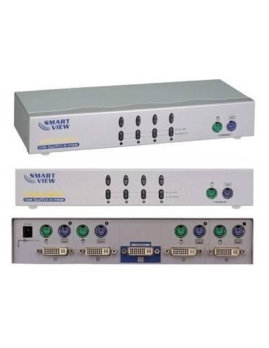 SMART VIEW IC714ID Desktop KVM Switch,4-port DVI + PS/2,1280x1024  - 1