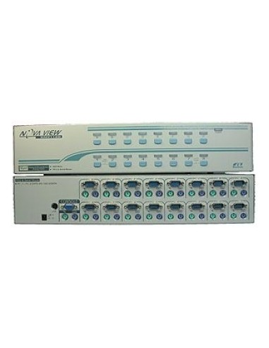 REXTRON KNV-2116D KVM Desctop Switch, PS/2, 2 User - 16 PC, OSD, cascadeable up to 16 PC  - 1