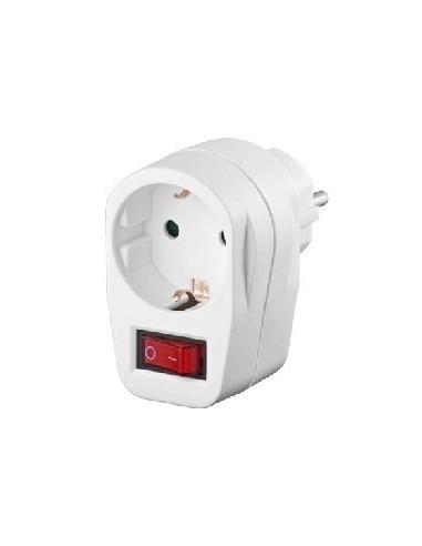 CEE 7/4 switch,1 x CEE7/4 jack,white ,CE  - 1