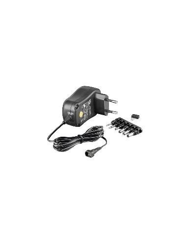 Stabilized switching power supply with euro plug 1000mA,AC100-240V / DC 3-12V-EuP  - 1