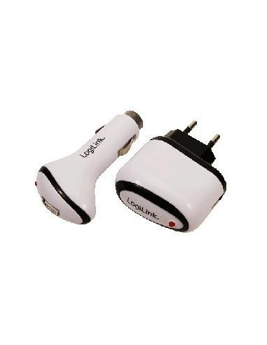 LOGILINK PA0009 USB Charger Set 12V / 220V, Output: 5V, 1000mA LogiLink - 1