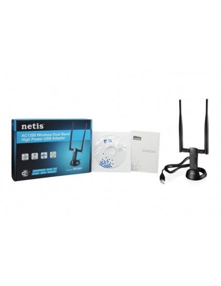 Безжична двубандова USB мрежова карта с голям обхват AC1200 NETIS SYSTEMS - 3