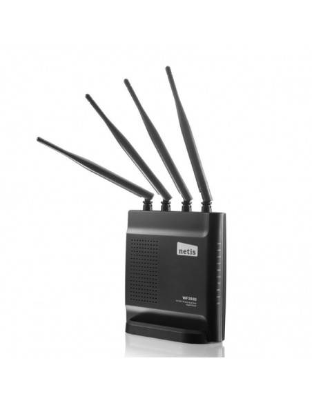 Wireless AC Router 802.11AC 1200Mbps with 4 x fixed antennas + USB 2.0 port NETIS SYSTEMS - 2