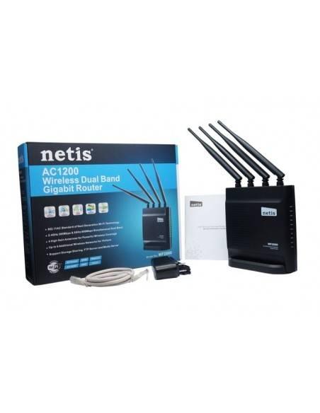 Безжичен рутер 802.11AC 1200Mbps 4 x фиксирани антени + USB 2.0 порт NETIS SYSTEMS - 4