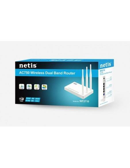 Wireless N Dual Band Router 750Mbps with 3 x antennas NETIS SYSTEMS - 4