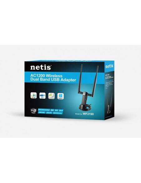 Безжичен Адаптер  двубандов 802.11AC 1200Mbps NETIS SYSTEMS - 3