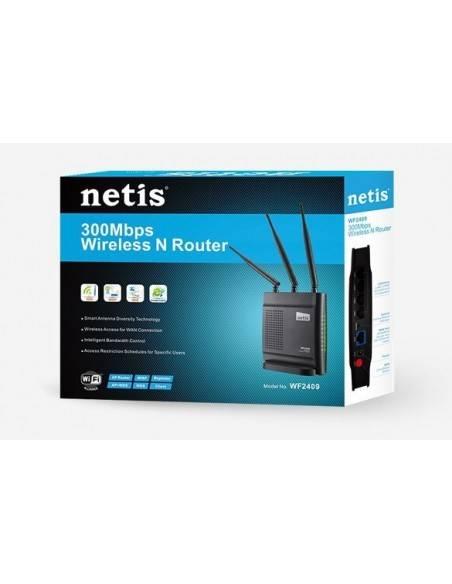 Безжичен N рутер 300Mbps 2T2R с 3 x разглобяеми антени NETIS SYSTEMS - 3