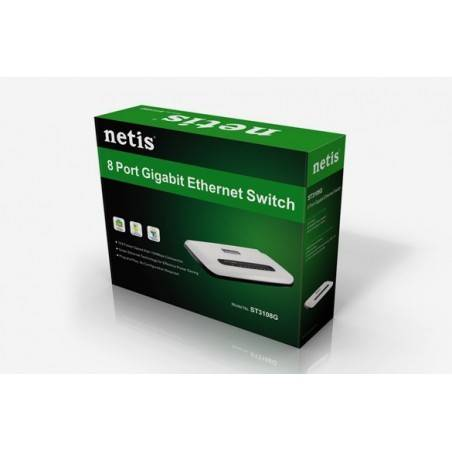 Network switch 8 ports 10-100-1000 Megabits
