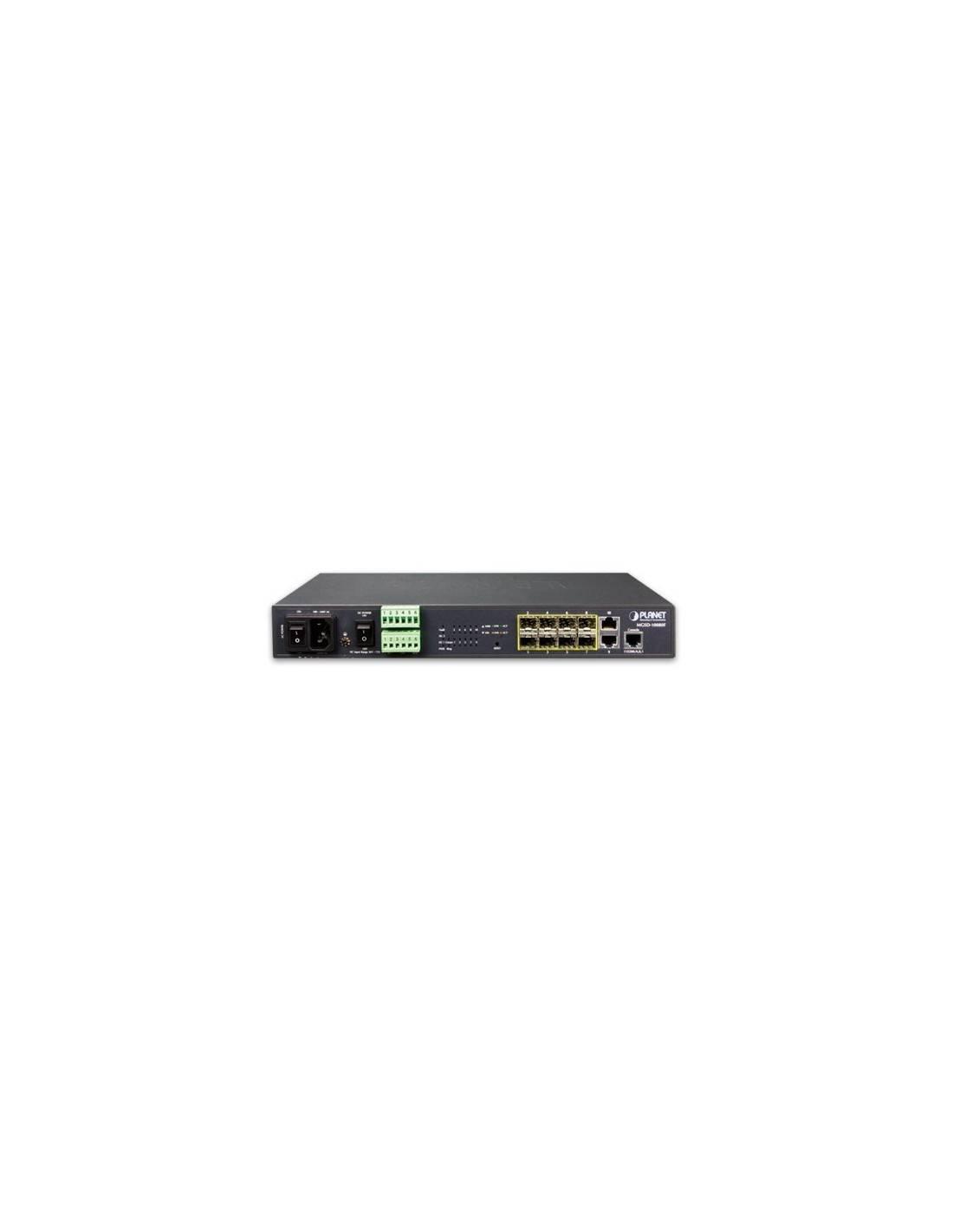 Switch 8 port Gigabit SFP modules + 2 ports RJ45 10-100-1000 Mb/s