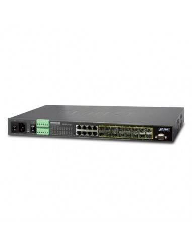 Суич 16 порта 100/1000Base-X SFP + 8 порта 10/100/1000Base-T L2/L4 Managed Metro Ethernet Planet - Тайван - 2
