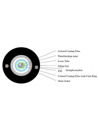 Оптичен кабел - армиран с 24 влакна сингъл мод GYXTW