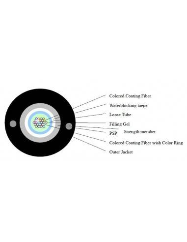 Fiber optic cable -armoured 24 fibers single mode CLT
