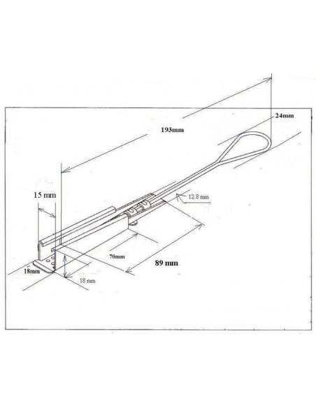 Fiber Optic Cable clamp MegaF - 2