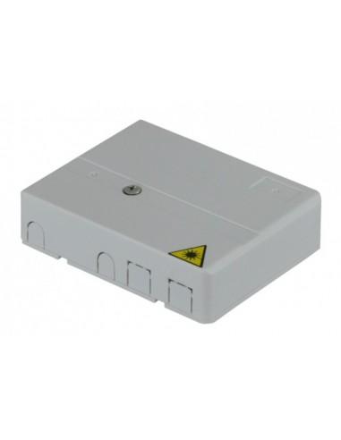 Fiber optic wall outlet for 2 SC simplex adapters MegaF - 4
