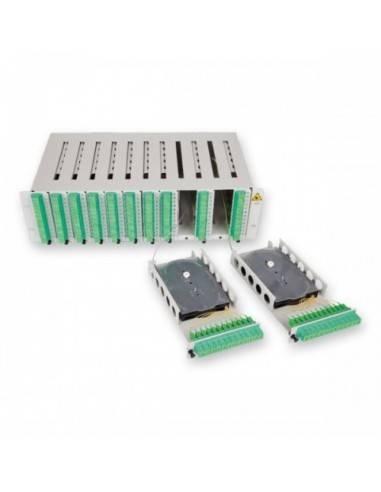 Оптичен пач панел 3U за монтаж на 144 SC симплексни адаптера MICOS Telecom Division - 4