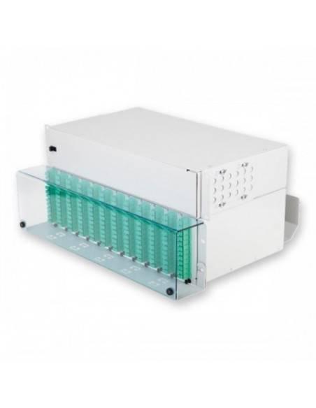 Оптичен пач панел 3U за монтаж на 144 SC симплексни адаптера MICOS Telecom Division - 1