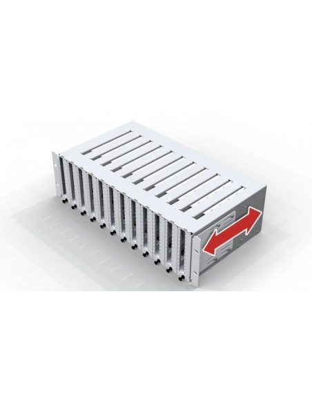 Fiber optic panel 3U with capacity of 144 SC simplex adapters MICOS Telecom Division - 2