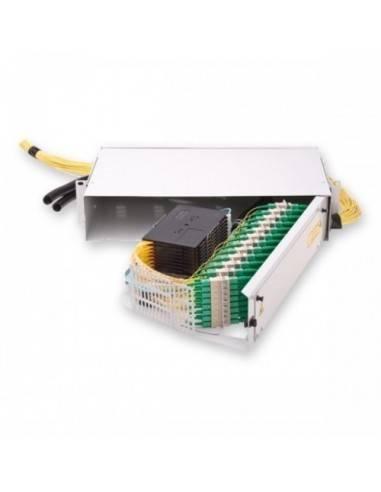 Optical distribution panel for upto 96 SC simplex adapters 2U, hinged MICOS Telecom Division - 2