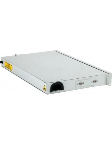 Fiber optic panel for 24 SC simplex adapters, hinged 1U MICOS Telecom Division - 1
