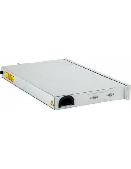 Fiber optic panel for 12 SC simplex adapters, hinged 1U MICOS Telecom Division - 1