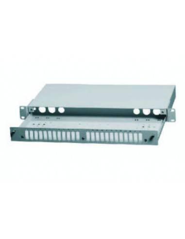 Оптичен пач панел ODF за 24 SC дуплексни адаптера, незареден, бял цвят AsRack Турция - 2