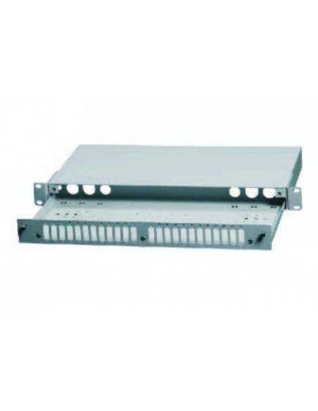 Fiber optic patch panel ODF for 24 SC duplex adapters, unloaded, light gray AsRack Турция - 2