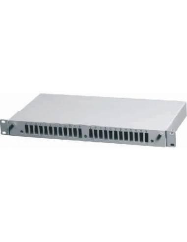 Fiber optic patch panel ODF for 24 SC duplex adapters, unloaded, light gray AsRack Турция - 1
