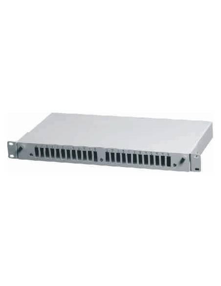 Оптичен пач панел ODF за 24 SC дуплексни адаптера, незареден, бял цвят AsRack Турция - 1