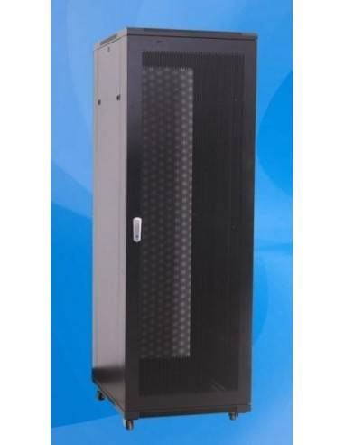Server Rack 32U 600x1000 mm, RAL7035, perforated front and rear door, MegaS MegaS / ZPAS - 2