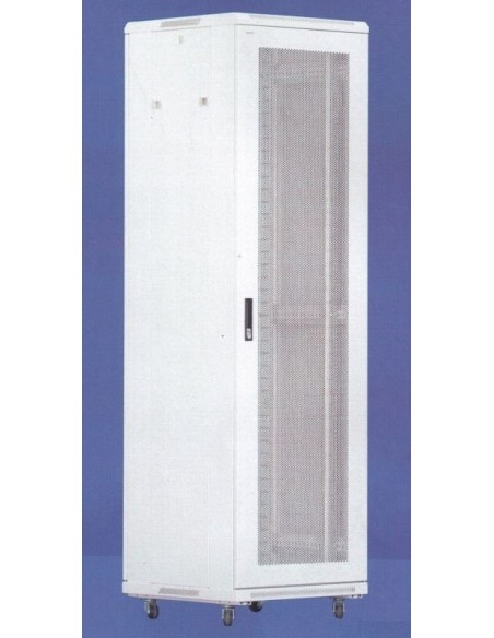 Server Rack 32U 600x900 mm, RAL7035, perforated front and rear door, MegaS MegaS / ZPAS - 1