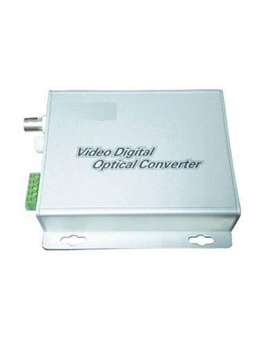 Видео оптичен конвертор, 1 канал видео + 1 канал аудио, комплект  - 1