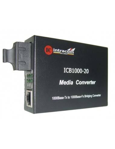 Гигабитов медиа конвертор 1000М, две влакна сингъл мод - 20 км, ICB  - 1