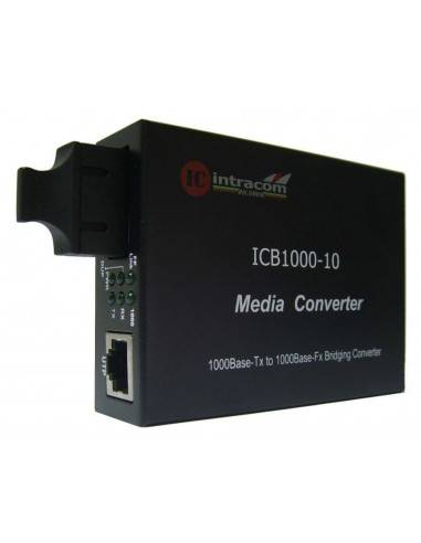 Gigabit media converter 1000M single mode dual fiber - 10 km, ICB  - 1