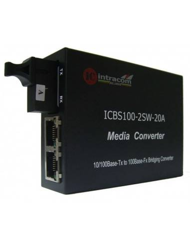 Media converter 10/100M Single mode single fiber TX:1310 - RX:1550 + 2xRJ45 ports - 20 km, ICB  - 1